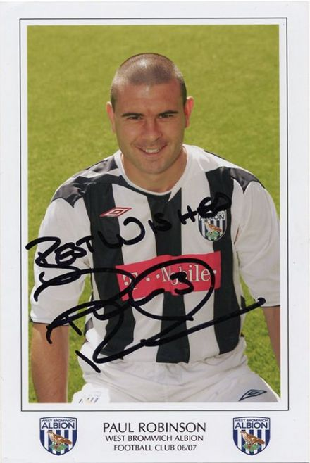Paul Robinson, West Brom, signed 6x4 inch photo.